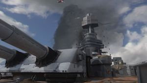 USS Texas map call of duty wwii