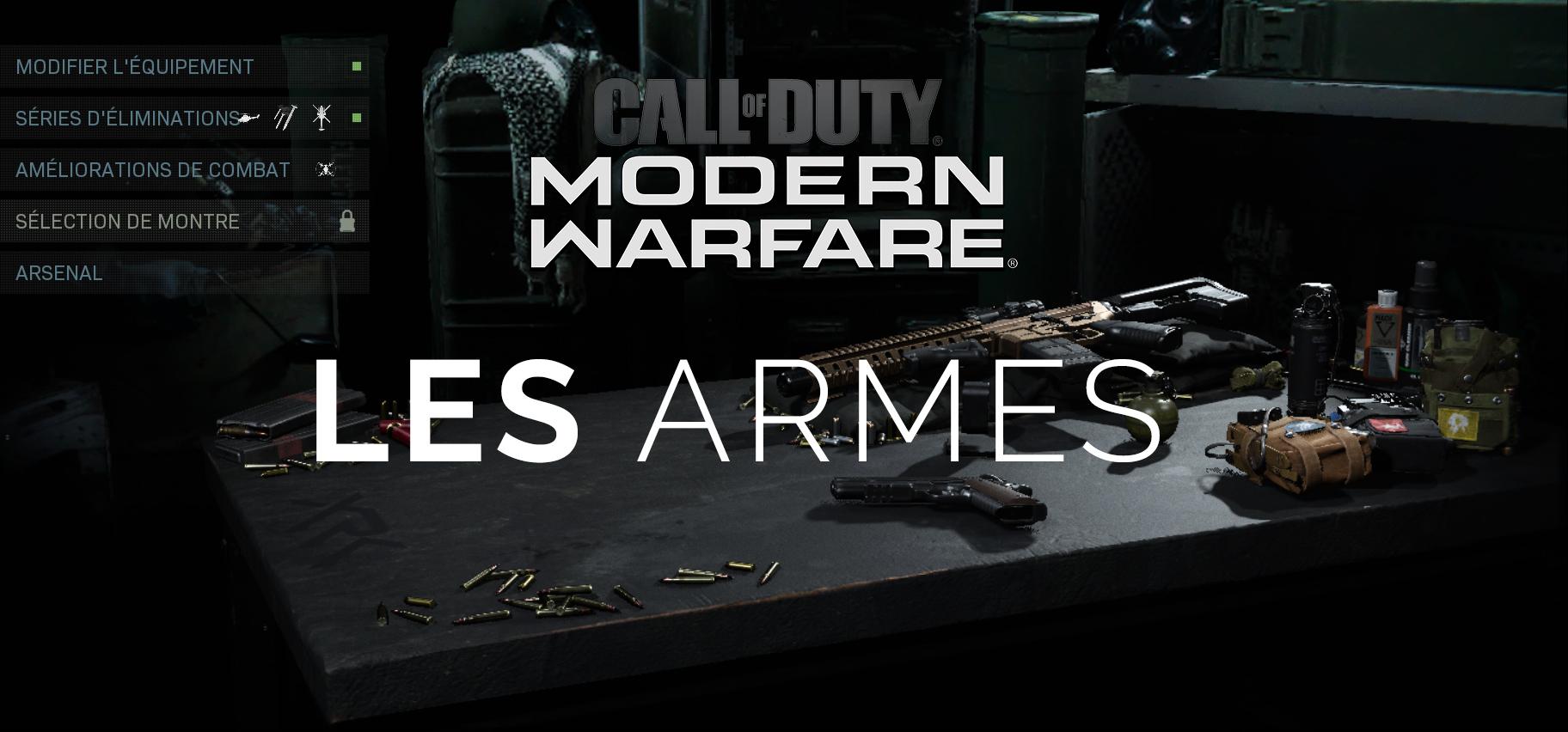 Modern Warfare : les Armes