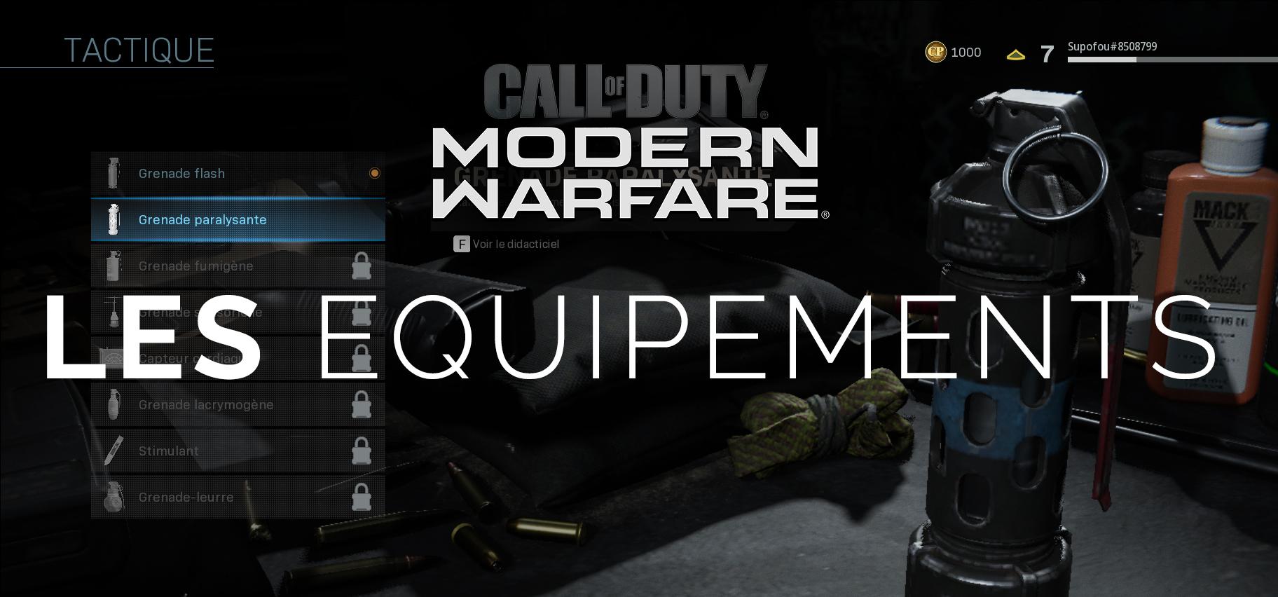 Modern Warfare : les Equipements