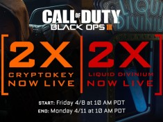 Week-end Double Cryptokeys sur Black Ops 3