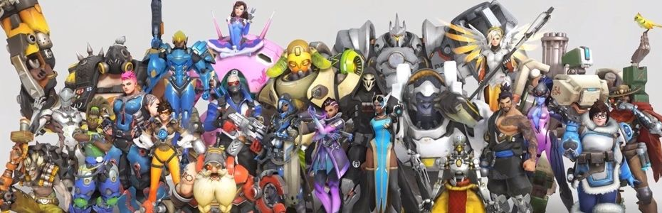 Photo de famille des personnages Overwatch