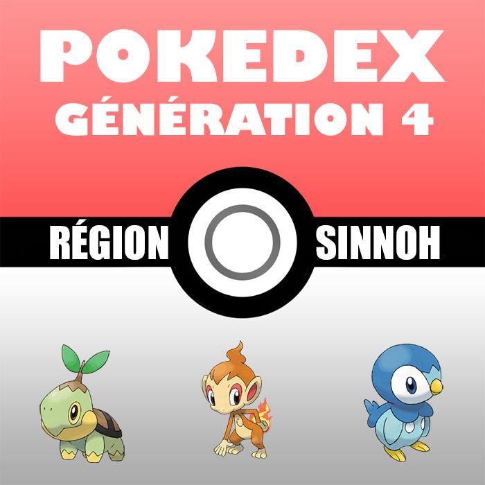 Liste Pokémon : Génération 4 (le Pokedex)