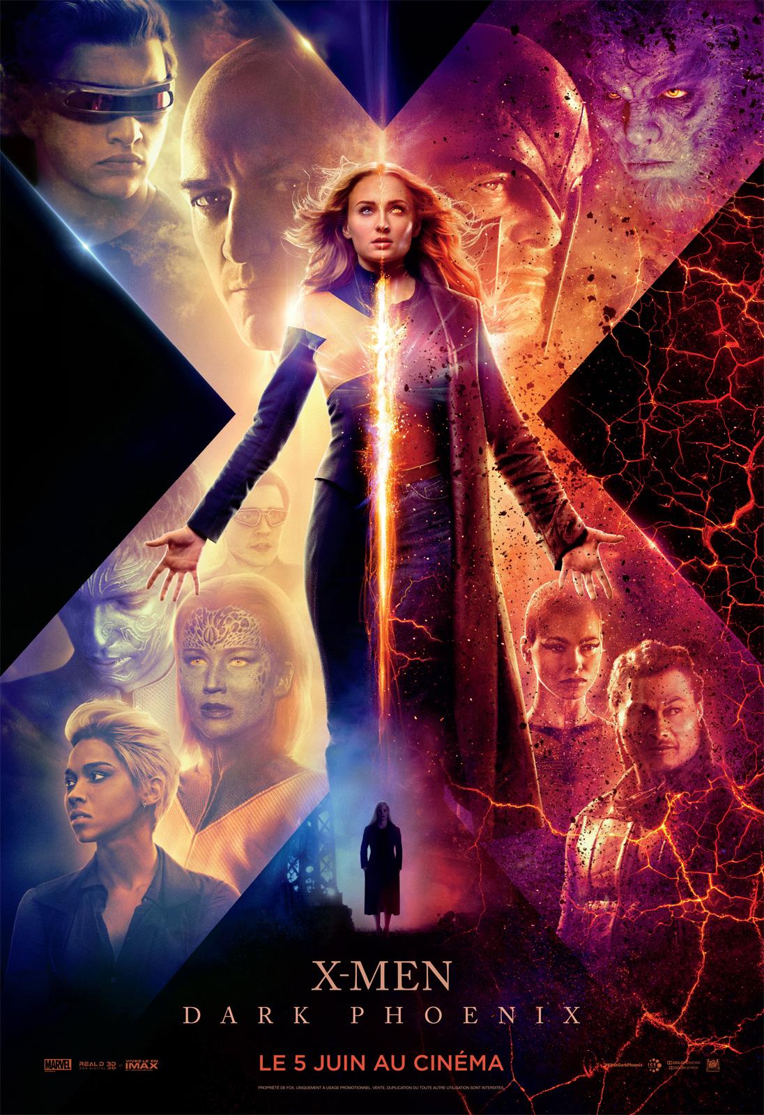 XMen Dark Phoenix affiche film