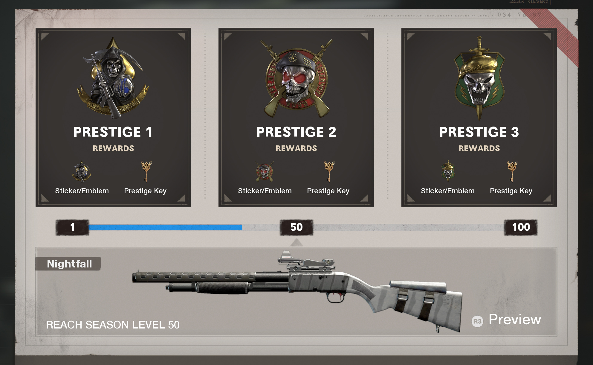 Call of Duty - Black Ops Cold War Prestiges