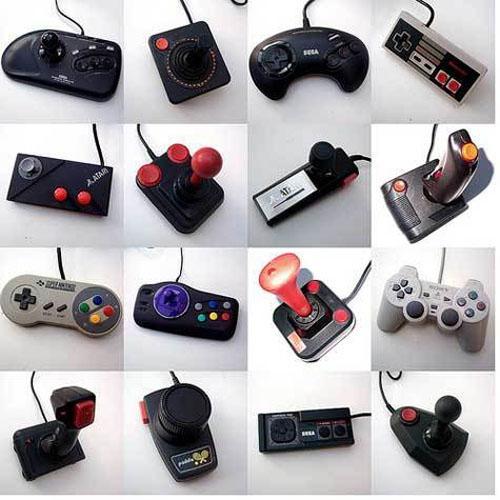 manettes de consoles de jeu historiques